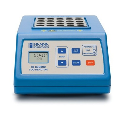 COD test tube heater with 25 vial capacity; Temperature of Reaction 105�C or 150�C (221�F or 302�F) 230V